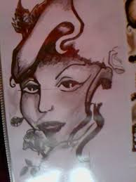 woman face tattoo design by daryl brown on deviantart