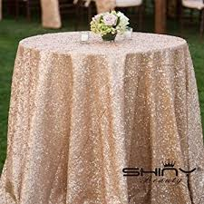 tablecloth for 72 round table amazon com shidianyi 72 round chagne sequin tablecloth home