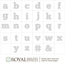 alphabet letters wall art wood shapes for diy decor royal design