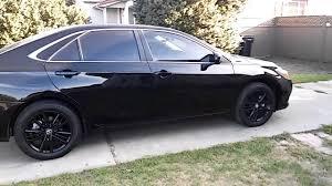 my black 2016 toyota camry se with black plasti dipped gloss