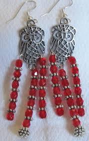 Red Chandelier Earrings Chandelier Earrings