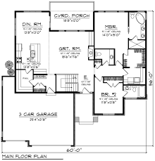 Prairie House Plans Prairie Style House Plan 2 Beds 2 50 Baths 1850 Sq Ft Plan 70 1268