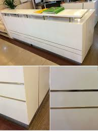 Two Person Reception Desk Factory New Design Cheap Modern Small Reception Desk Counter View