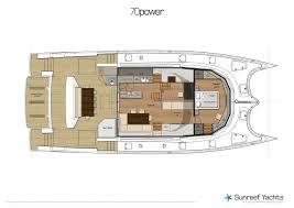 luxury yacht floor plans 2011 70 u0027 sunreef 70 power catamaran damrak ii for sale in san diego ca