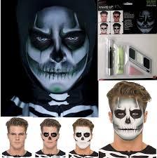 skeleton face for halloween halloween glow gid skeleton skull face paint make up fancy dress