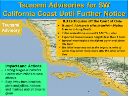 Oregon Tsunami Map by Scvnews Com Chilean Quake Prompts Tsunami Warning For Socal