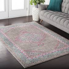 Large Kids Rug by Bedroom Baby Pink Area Rug Polka Dot Rug Light Pink Area Rug For