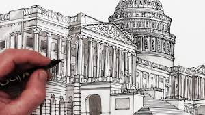 how to draw the us capitol building time lapse drawing youtube