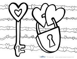 free coloring pages valentines printable valentine heart day