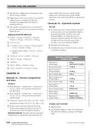 chapters 10amp11 resources answer key mole unit stoichiometry