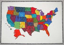 Map Quilt Usa Patchwork Map Quilt Pattern From Quilts By Elena Full Sized