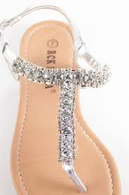 Rhinestone Flat Sandals Wedding Best 25 Sparkly Sandals Ideas On Pinterest Silver Sandals For