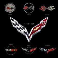 c3 corvette flags evolution of the corvette and the crossed flags logo