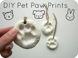 diy paw print ornaments pet paws cat tags and printing