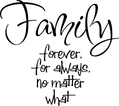 quote garden family vinyl saying family forever for always no matter what google