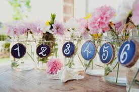 jar ideas for weddings jar wedding reception decor centerpieces chalkboard table numbers
