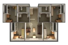 Texas Floor Plans by San Jacinto Hall Department Of Housing And Residential Life