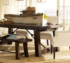 holiday table decor rectangle pottery barn kitchen pb white