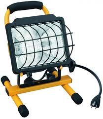Portable Work Light Utilitech Toughened Glass 1 Light 500 Watt Halogen Portable Work