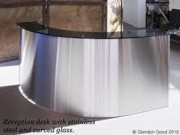 Stainless Desk Stainless Steel Reception Desk Glendon Good