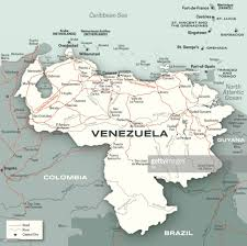 Venezuela Map Venezuela City Road And River Map Vector Art Getty Images