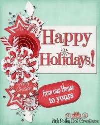 happy holidays pink polka dot creations