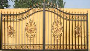 backyard iron gate ideas backyard fence ideas