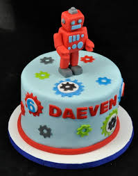 robot cake u2013 decoration ideas little birthday cakes