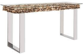 glass top sofa table console tables osimo driftwood top with glass top mh2g com