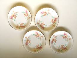 vintage set of 4 of china butter pats trinket dishes royal