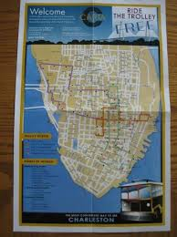 charleston trolley map front of trolley map picture of charleston visitor center