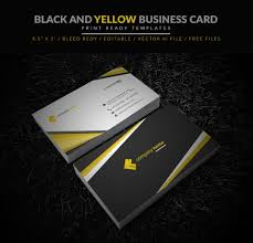 and black business card illustrator template