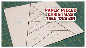 paper pieced tree design sews