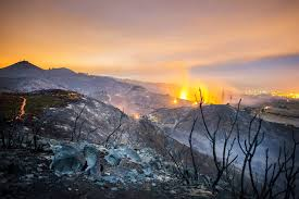 California Wildfire Database by California Wildfires Spread Across Hills Leveling Homes The New