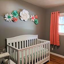 Nursery Decor Paper Flowers Take Center Stage In Nursery Decor Barb Designs