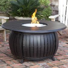 fire sense 61832 extruded aluminum round propane fire pit patio
