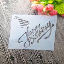 happy birthday scrapbooking tool card diy album masking spray