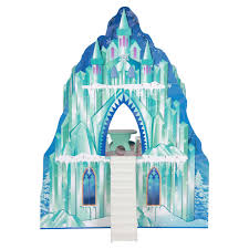 Doll House Furniture Teamson Kids Ice Castle Wooden Doll House With 6 Pieces Of