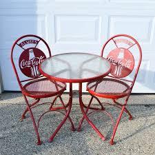coca cola table and chairs retro coca cola bistro set ebth
