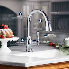 grohe bridgeford kitchen faucet faucet 33870002 in starlight chrome by grohe