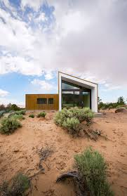small house plans designs t shaped house plan with corten steel cladding in desert landscape