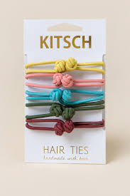 kitsch hair ties halle knotted hair ties by kitsch s