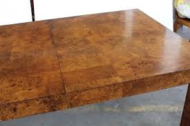 parsons wood dining table parsons style burl wood dining table by milo baughman for sale at