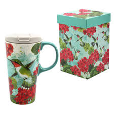 Peacock Mug Hummingbird Garden Gift Boxed Travel Mug The Breast Cancer Site