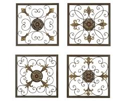 decor 6 metal wall art medallion wrought iron home decor accent