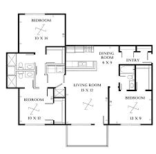 bedroom plan bath house plans small furthermore open 3 2 kevrandoz