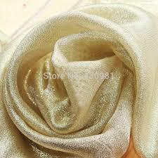 Indian Curtain Fabric Meter Golden Indian Gauze Fabric Wedding Dress Material Curtains