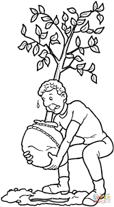 planting a tree coloring page free printable coloring pages