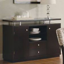 brown modern sideboards buffets u0026 trolleys ebay