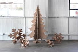 6ft tall recycled cardboard christmas tree